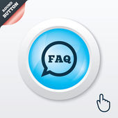 FAQ information sign icon. Help symbol. — Stock Vector