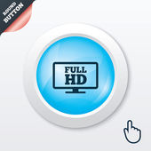 Full hd widescreen tv. High-definition symbol. — Vector de stock