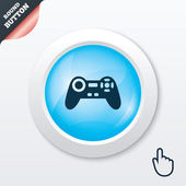Joystick sign icon. Video game symbol. — 图库矢量图片