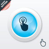 Hand cursor sign icon. Hand pointer symbol. — Vetorial Stock