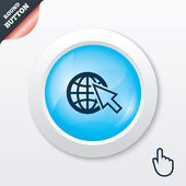 Internet sign icon. World wide web symbol. — Cтоковый вектор