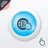 Internet sign icon. World wide web symbol. — Vector de stock