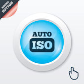 ISO Auto photo camera sign icon. Settings symbol — Vector de stock