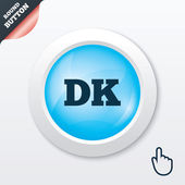 Denmark language sign icon. DK translation. — Stok Vektör
