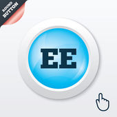 Estonian language sign icon. EE translation. — Stock Vector