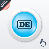 German language sign icon. DE Deutschland. — Stock Vector