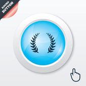 Laurel Wreath sign icon. Triumph symbol. — Stock Vector