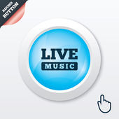 Live music sign icon. Karaoke symbol. — ストックベクタ