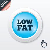 Low fat sign icon. Salt, sugar food symbol. — Stock Vector