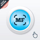 Manual focus photo camera sign icon. MF Settings — 图库矢量图片
