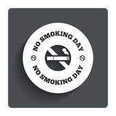No smoking day sign icon. Quit smoking day. — Vecteur