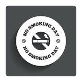 Rauchverbot tageszeichen-symbol. rauchen aufhören tag. — Stockvektor