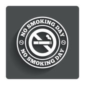 No smoking day sign icon. Quit smoking day. — ストックベクタ