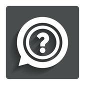 Question mark sign icon. Help symbol. — Stockvektor