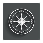 Compass sign icon. Windrose navigation symbol. — Stockvektor