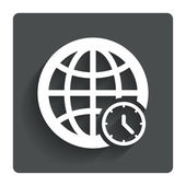 World time sign icon. Universal time symbol. — Stock Vector