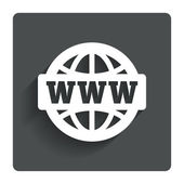 WWW sign icon. World wide web symbol. — Vecteur