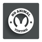 No animals testing sign icon. Not tested symbol — Stock Vector