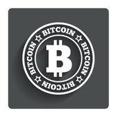 Bitcoin tecken ikon. valutasymbolen för kryptografi — Stockvektor