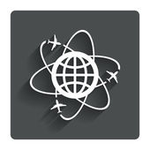 Globe sign icon. World logistics symbol. — Stock Vector
