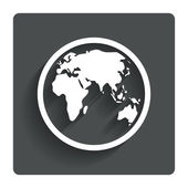 Globe sign icon. World map geography symbol. — Stock Vector