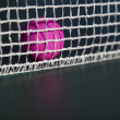 Royalty-Free Stock Photo: Pink table tennis ball