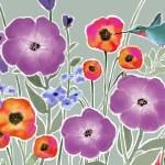 koliber z wiosennych kwiatów — Zdjęcie stockowe #17402419