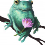 Friendly frog — Stock Photo #25077325