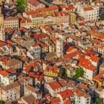 Sibenik old town aerial — Stock Photo #18398667