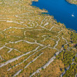Sibenik channel aerial - Stock Photo