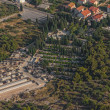Vodice cemetery aerial - Stock Photo