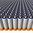 Army of batteries — Stock Photo