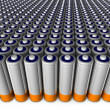 Stock Photo: Army of batteries