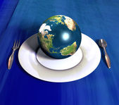 Serving the earth — Stock Photo