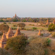 sunset in bagan — Stock Photo