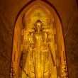 Ananda Temple - Old golden Budha - Stock Photo