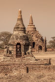 Bagan - small pagodas — Stock Photo