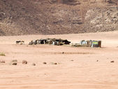 Beduin hem i wadi rum — Stockfoto