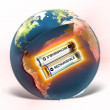 EARTH - rechargeable or not? - Stock Photo