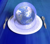 Earth under the jelly — Stock Photo