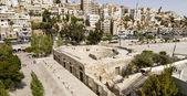 Pequeño anfiteatro romano en amman, jordania — Foto de Stock