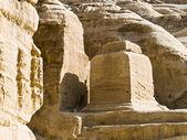 Petra in Jordan - tombs — Stock Photo