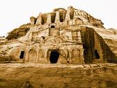 Petra w Jordanii - grobowce — Zdjęcie stockowe