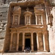 Treasury temple in Petra — Stock Photo
