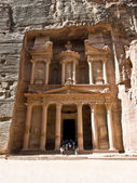 Treasury temple in Petra — Stok fotoğraf
