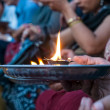 Hindu prayer ritual — Stock Photo
