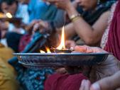 Hindu prayer ritual — Stock Photo