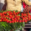 Stock Photo: Street selling strawberries