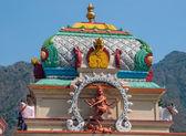 Gammal staty av indiska gudinnan kali — Stockfoto