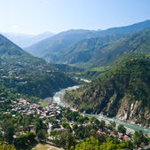 Chamba and river Ravi — Stock Photo